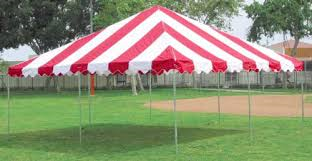 16X16 Red & White Tent