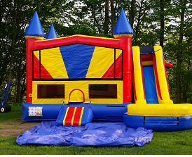 7 in 1 combo slide bounce house