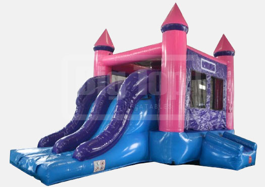 pink combo bounce house rental